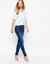 Whistles Classic Skinny Jeans In Mid Wash Bluedenim