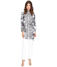 Versace Long Sleeve Printed Tunic Nero Stampa Women's Blouse Black