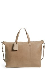 Sole Society Candice Oversize Travel Tote Beige Taupe
