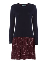 Dickins And Jones Kate Knitted Printed Dress Multi Coloured