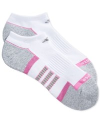 Adidas Low Cut Climalite Socks 2 Pack White Grey Pink