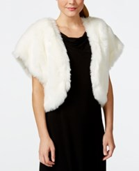 Tahari Asl Faux Fur Bolero Shrug Winter White