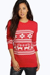 Roxy Reindeer Fairisle Christmas Jumper