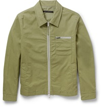 Marc By Marc Jacobs Cotton Blend Twill Lightweight Jacket Green