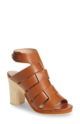 Kelsi Dagger Women's Brooklyn Ultra Block Heel Sandal Cinnamon Leather