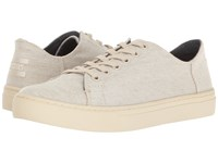 Toms Lenox Sneaker Natural Yarn Dye Women's Lace Up Casual Shoes Gray