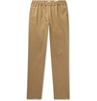 De Bonne Facture Tapered Cotton Twill Trousers Sand