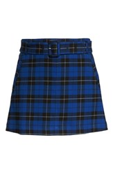 Plus Size Bp. Belted Plaid Skirt Blue Mazarine Hayden Plaid