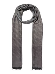 Guess All Over Logo Jacqui Scarf Coal