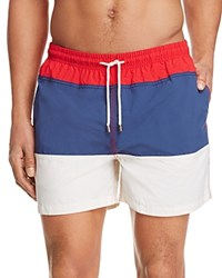 Solid And Striped Americana Color Block Classic Board Shorts Red White Blue