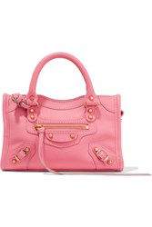 Balenciaga Classic City Nano Texured Leather Shoulder Bag Pink