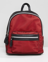 Qupid Backpack With Mesh Overlay Black Red
