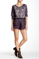 Gypsy05 Printed Romper Purple
