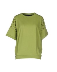 Twin Set Jeans Topwear Sweatshirts Women Acid Green