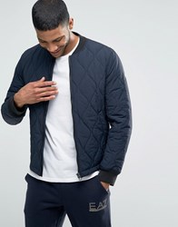 Boss Orange Okenzie Quilted Bomber Slim Fit Navy