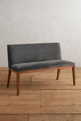 Anthropologie Velvet Emrys Bench Dark Grey