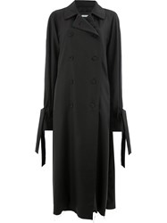 Moohong Printed Trench Coat Black