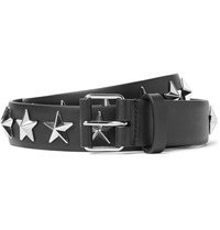Givenchy 3Cm Black Star Studded Leather Belt Black