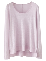 Poetry Silk And Linen Jersey Top Pale Orchid