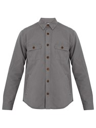 Faherty Lined Cotton Overshirt Grey