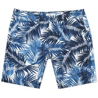 Onia Calder 7.5 Brushed Palm Swim Short Blue