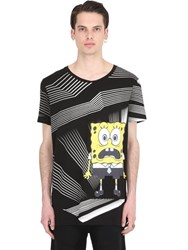 Patrick Loves Spongebob By Pm Shocked Cotton Jersey T Shirt