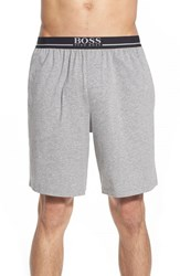 Men's Boss Stretch Cotton Lounge Shorts Medium Grey