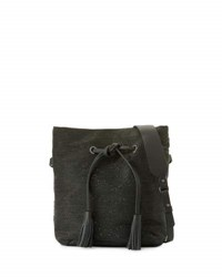 Brunello Cucinelli Monili Beaded Bucket Bag Onyx