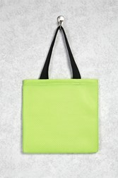 Forever 21 Neon Mesh Eco Tote Bag Neon Green Black