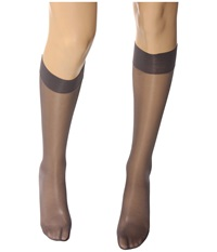 Wolford Satin Touch 20 Knee Highs Steel Stealth Gray Stealth Gray Women's Knee High Socks Shoes