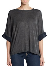 L'agence Silk And Cashmere Dolman Sweater Grey