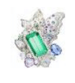 Anna Hu Haute Joaillerie Athena's Laurel Collection Athena's Laurel Ring In Green Tourmaline