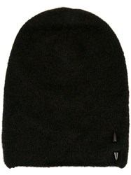 Isabel Benenato Stud Detail Beanie Brown