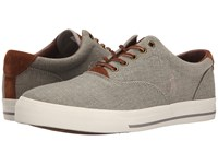Polo Ralph Lauren Vaughn Grey Vintage Burlap Sport Suede Men's Lace Up Casual Shoes Gray