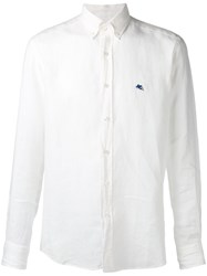 Etro Logo Embroidered Shirt White
