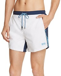 Boss Snapper Color Block Swim Trunks White