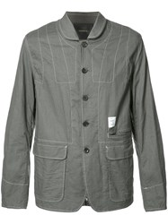 Undercover Contrasting Stitch Jacket Grey