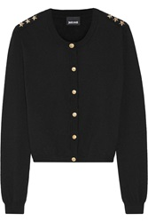 Just Cavalli Embellished Wool Cardigan Black