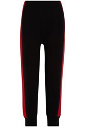Sjyp Color Block Knitted Tapered Pants Black