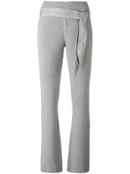 Designers Remix Ribbed Flared Pants Grey