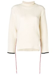 Eudon Choi Knitted Sweater White