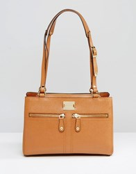 Modalu Leather Pippa Pippa Shoulder Bag Dark Tan Pebble