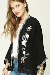 Forever 21 Embroidered Floral Lace Kimono