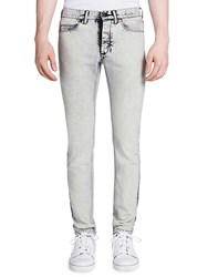 Lanvin Slim Fit Overdyed Jeans Chalk