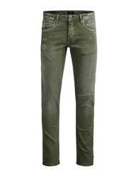 Jack And Jones Glenn Olive Straight Jeans Olive Night