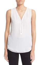 Women's The Kooples Silk And Jersey Tank