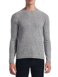 Saks Fifth Avenue Collection Donegal Crewneck Sweater Light Grey