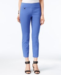 Alfani Tummy Control Pull On Capri Pants Only At Macy's Alf Pery Blue