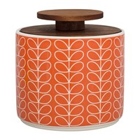 Orla Kiely Linear Stem Storage Jar 1L Tomato