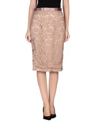 Elisabetta Franchi Skirts 3 4 Length Skirts Women Skin Color